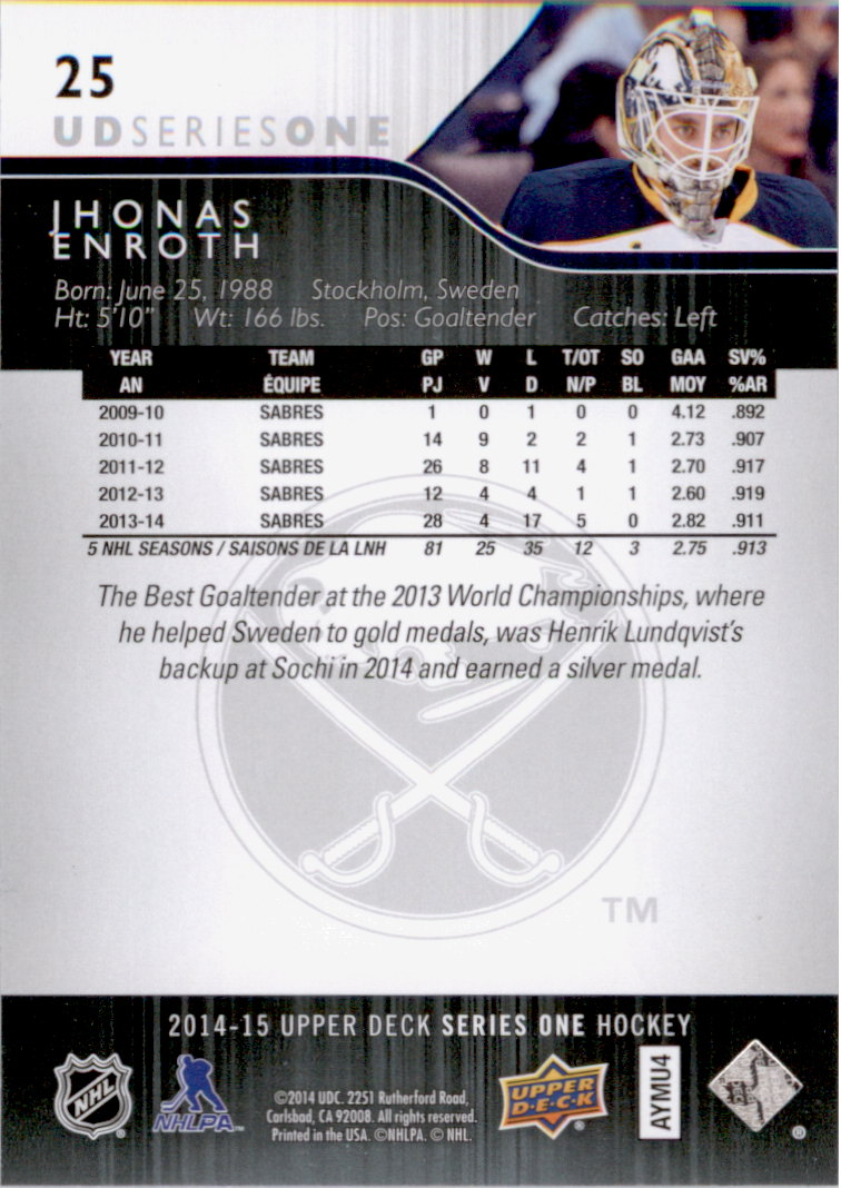 2014-15-Upper-Deck-Hk-Card-s-1-250-Rookies-U-Pick-Buy-10-cards-FREE-SHIP thumbnail 51