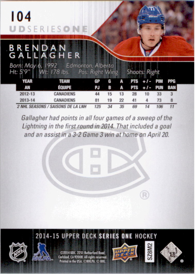 2014-15-Upper-Deck-Hk-Card-s-1-250-Rookies-U-Pick-Buy-10-cards-FREE-SHIP thumbnail 209