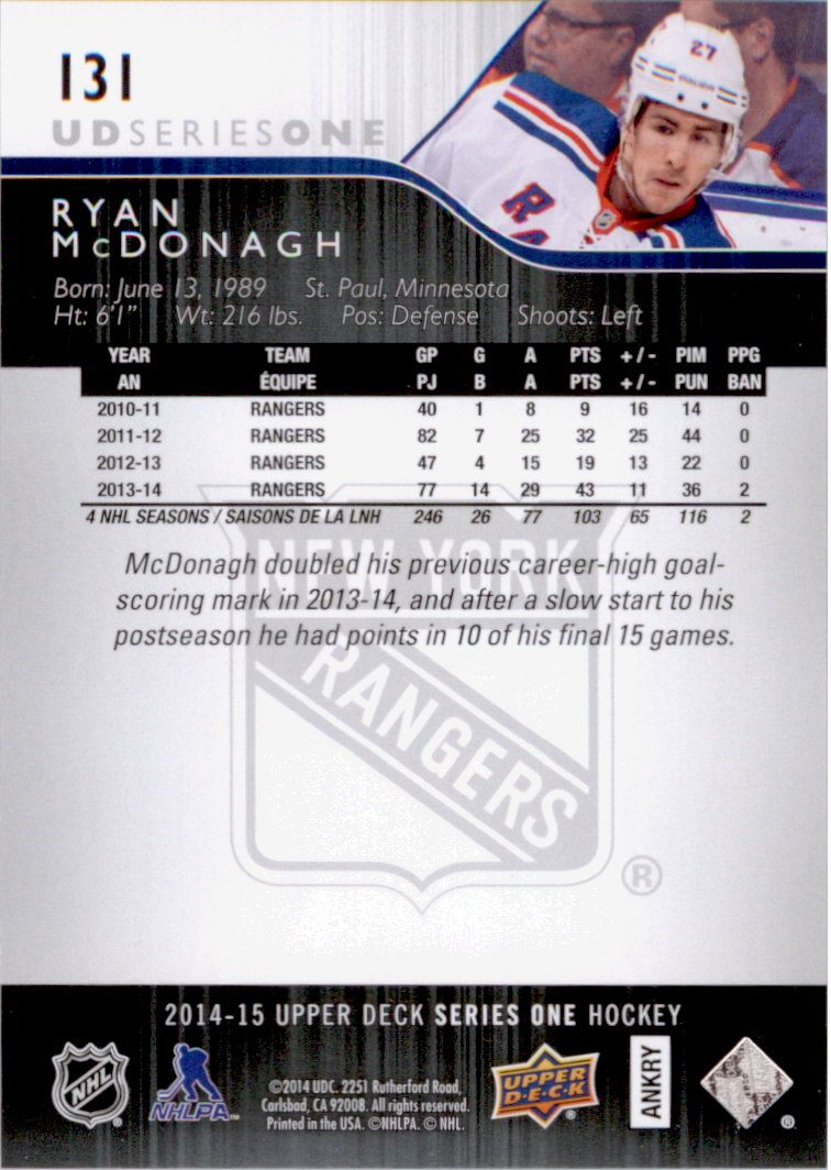 2014-15-Upper-Deck-Hk-Card-s-1-250-Rookies-U-Pick-Buy-10-cards-FREE-SHIP thumbnail 263