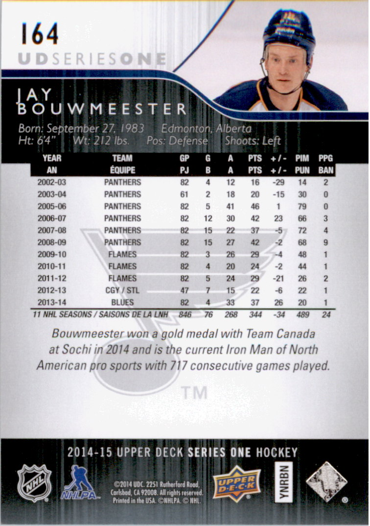 2014-15-Upper-Deck-Hk-Card-s-1-250-Rookies-U-Pick-Buy-10-cards-FREE-SHIP thumbnail 329