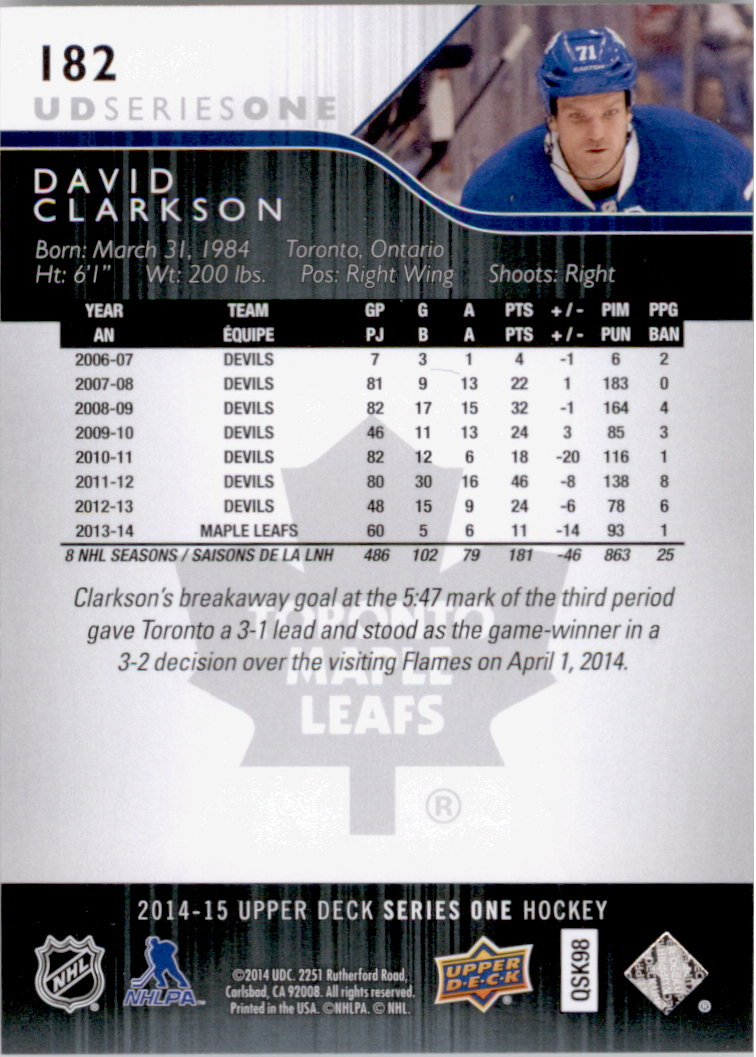 2014-15-Upper-Deck-Hk-Card-s-1-250-Rookies-U-Pick-Buy-10-cards-FREE-SHIP thumbnail 365