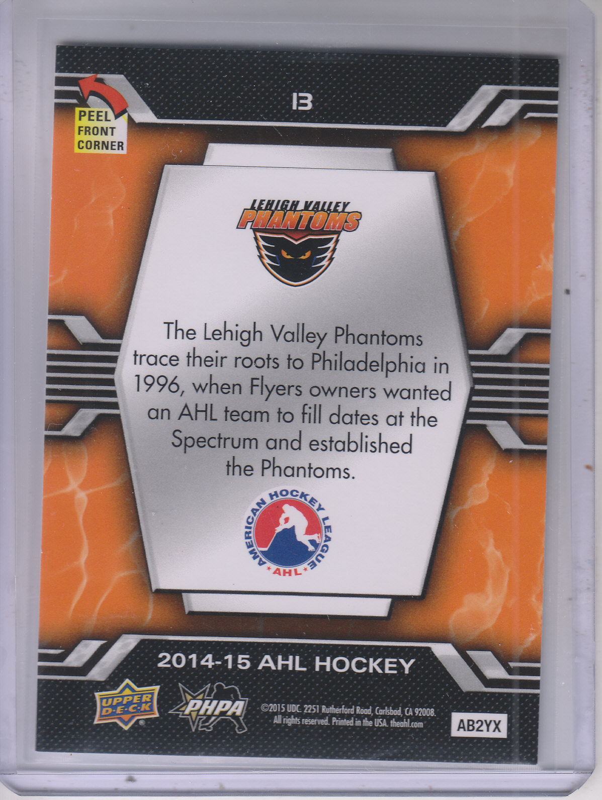 2014-15-Upper-Deck-AHL-Hk-039-s-Logo-Stickers-You-Pick-Buy-10-cards-FREE-SHIP thumbnail 27