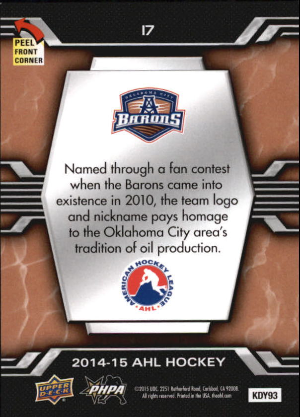 2014-15-Upper-Deck-AHL-Hk-039-s-Logo-Stickers-You-Pick-Buy-10-cards-FREE-SHIP thumbnail 35