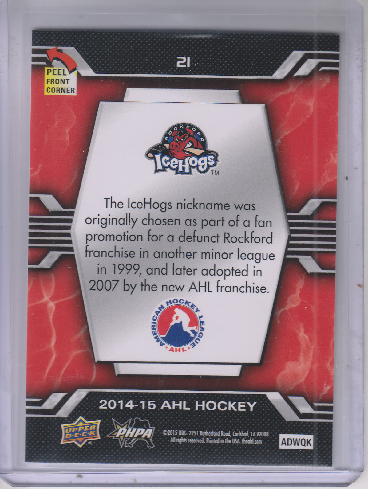 2014-15-Upper-Deck-AHL-Hk-039-s-Logo-Stickers-You-Pick-Buy-10-cards-FREE-SHIP thumbnail 43