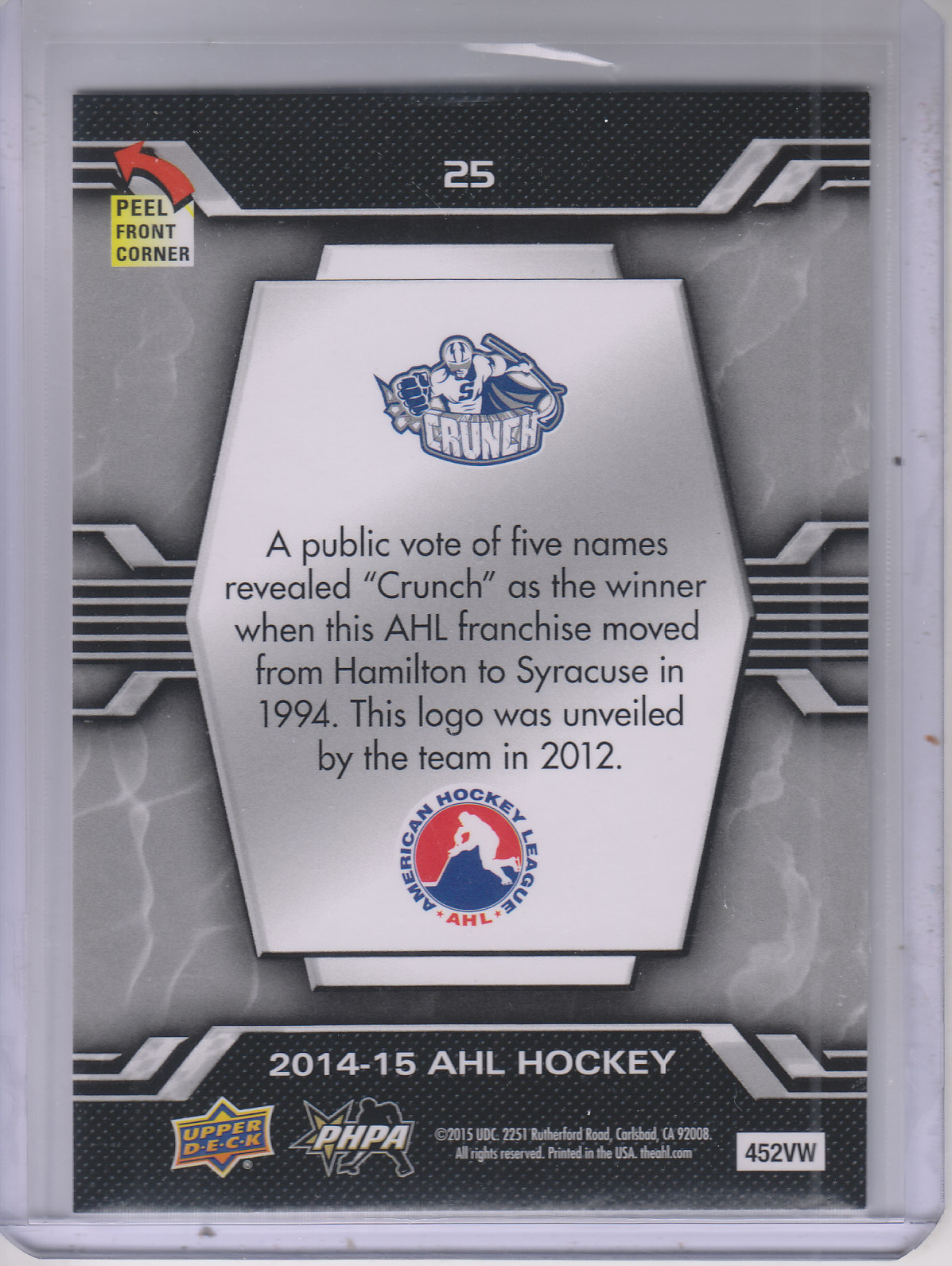 2014-15-Upper-Deck-AHL-Hk-039-s-Logo-Stickers-You-Pick-Buy-10-cards-FREE-SHIP thumbnail 51