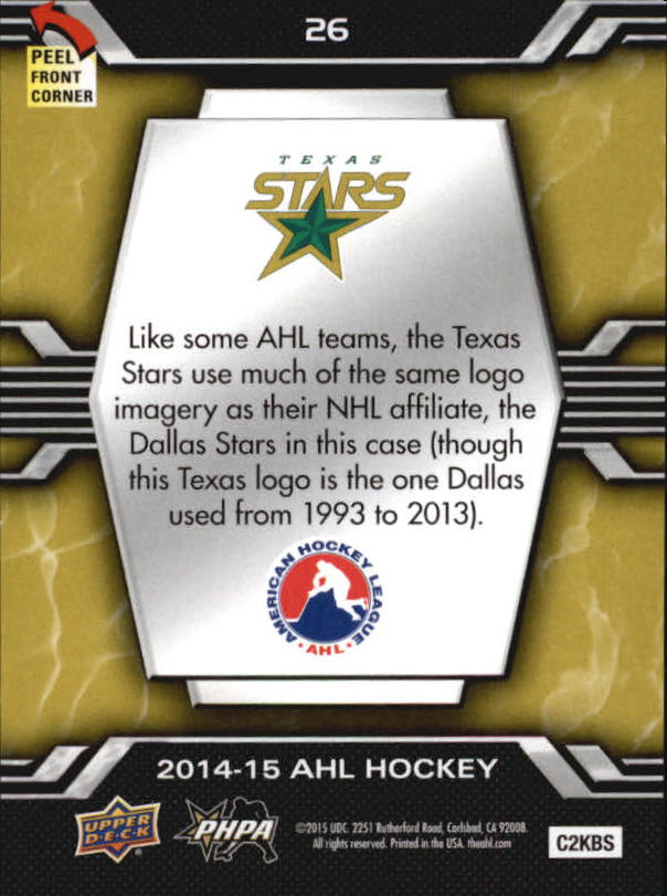 2014-15-Upper-Deck-AHL-Hk-039-s-Logo-Stickers-You-Pick-Buy-10-cards-FREE-SHIP thumbnail 53