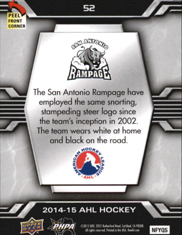 2014-15-Upper-Deck-AHL-Hk-039-s-Logo-Stickers-You-Pick-Buy-10-cards-FREE-SHIP thumbnail 103