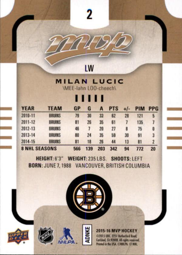 2015-16-Upper-Deck-MVP-Hockey-Card-Pick thumbnail 5