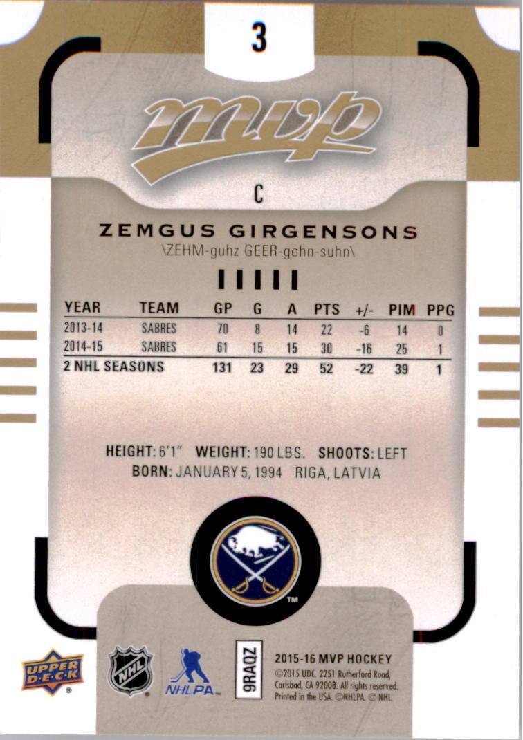 2015-16-Upper-Deck-MVP-Hockey-Card-Pick thumbnail 7