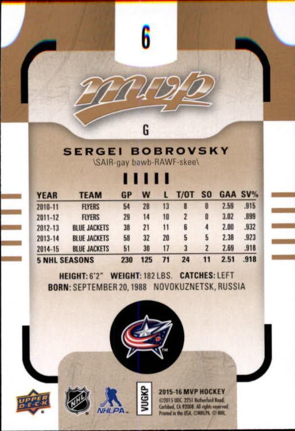 2015-16-Upper-Deck-MVP-Hockey-Card-Pick thumbnail 13