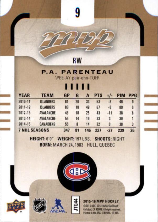 2015-16-Upper-Deck-MVP-Hockey-Card-Pick thumbnail 19