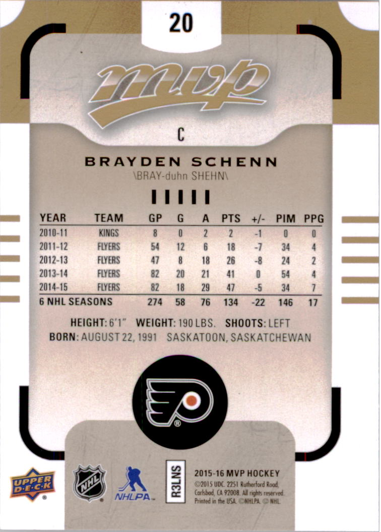 2015-16-Upper-Deck-MVP-Hockey-Card-Pick thumbnail 41