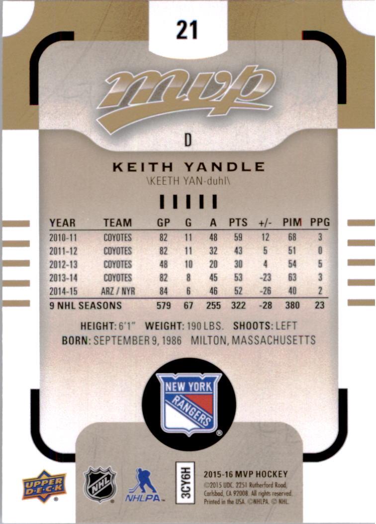 2015-16-Upper-Deck-MVP-Hockey-Card-Pick thumbnail 43