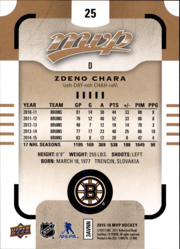 2015-16-Upper-Deck-MVP-Hockey-Card-Pick thumbnail 51