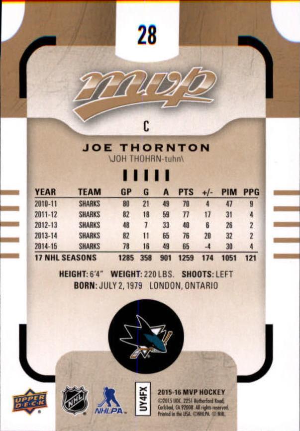 2015-16-Upper-Deck-MVP-Hockey-Card-Pick thumbnail 57