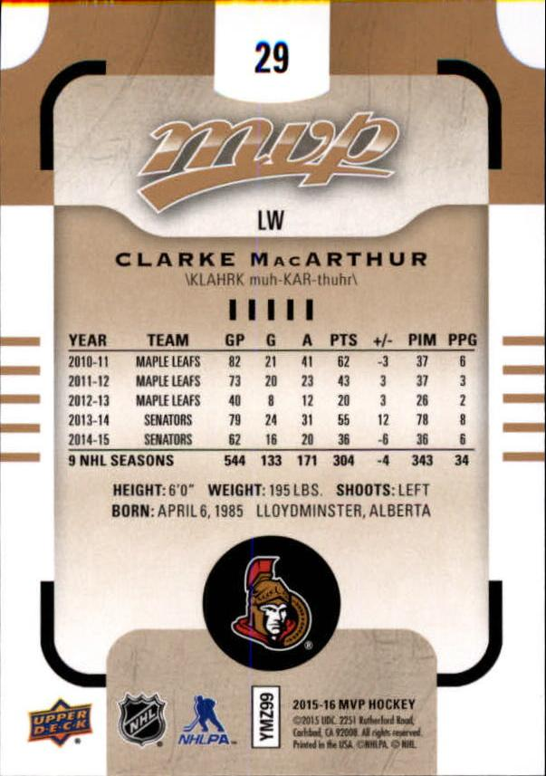 2015-16-Upper-Deck-MVP-Hockey-Card-Pick thumbnail 59
