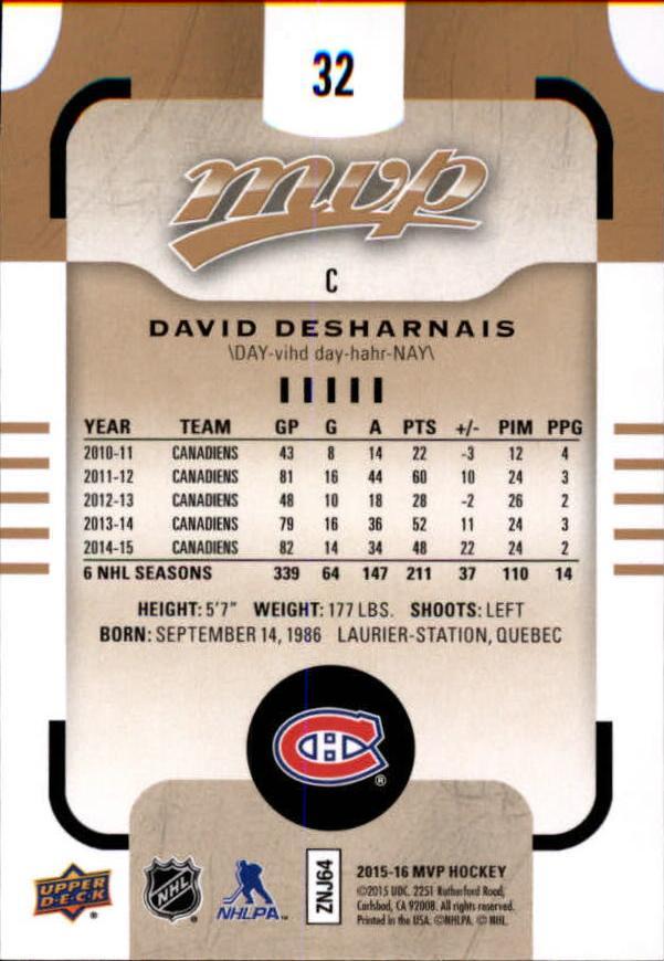 2015-16-Upper-Deck-MVP-Hockey-Card-Pick thumbnail 65