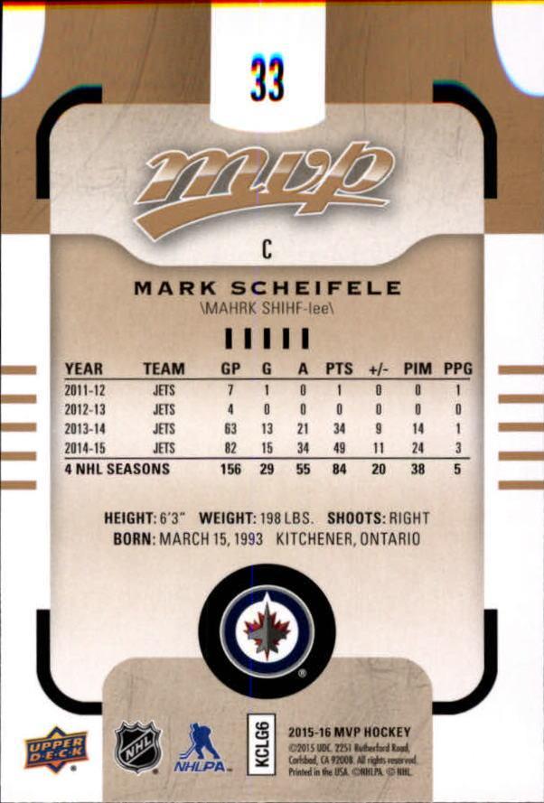 2015-16-Upper-Deck-MVP-Hockey-Card-Pick thumbnail 67