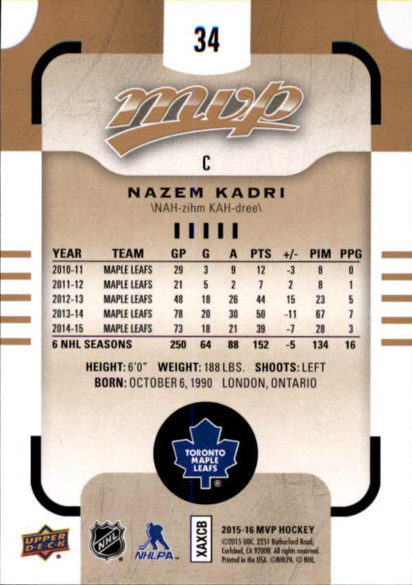 2015-16-Upper-Deck-MVP-Hockey-Card-Pick thumbnail 69