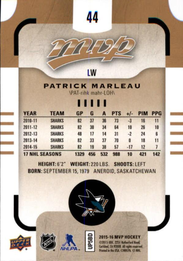 2015-16-Upper-Deck-MVP-Hockey-Card-Pick thumbnail 89