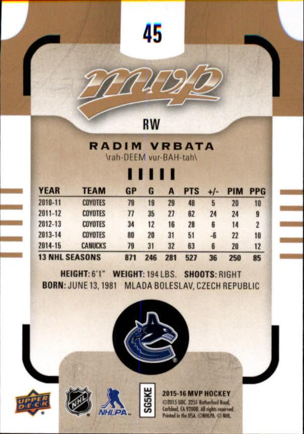 2015-16-Upper-Deck-MVP-Hockey-Card-Pick thumbnail 91