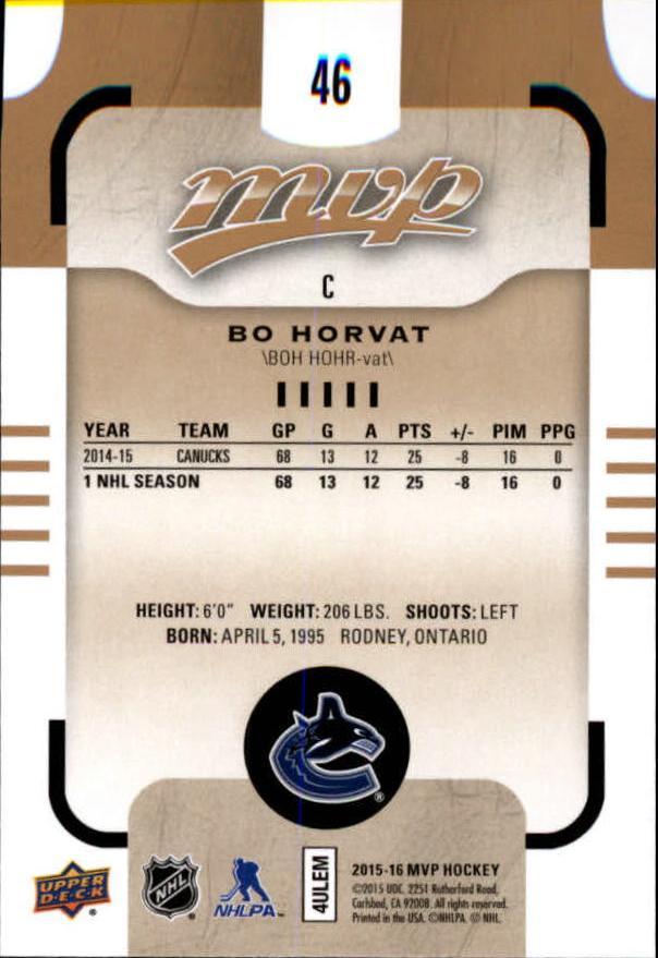 2015-16-Upper-Deck-MVP-Hockey-Card-Pick thumbnail 93