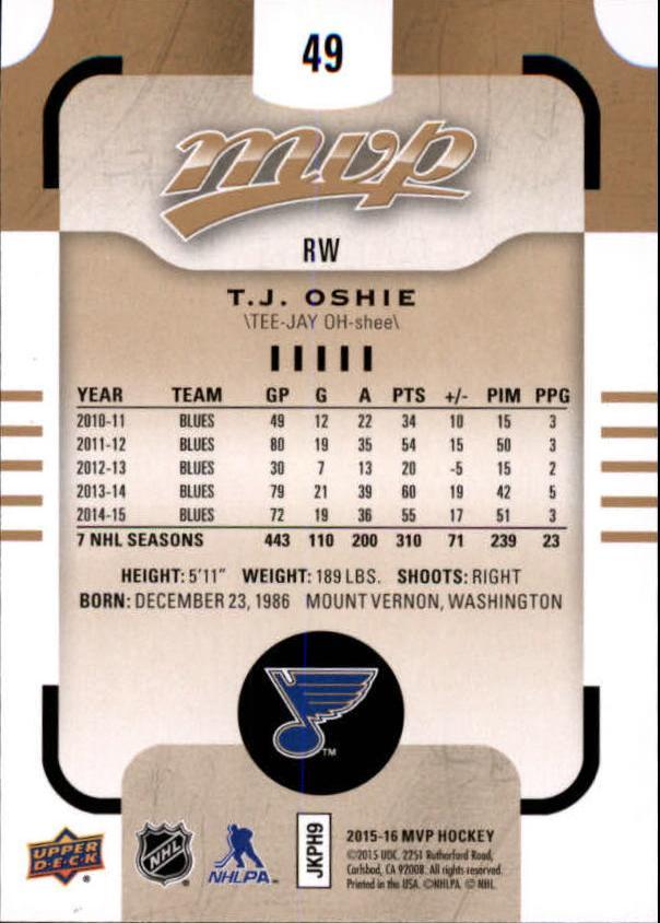 2015-16-Upper-Deck-MVP-Hockey-Card-Pick thumbnail 99