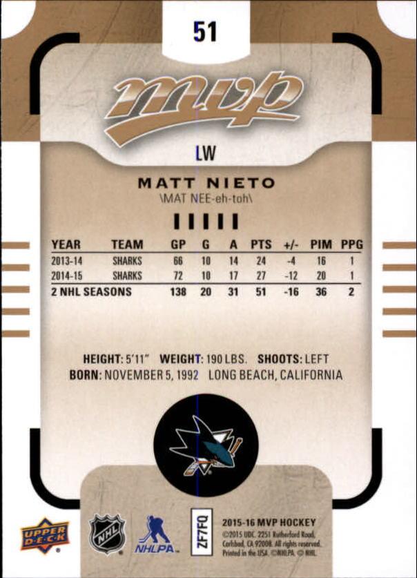 2015-16-Upper-Deck-MVP-Hockey-Card-Pick thumbnail 103