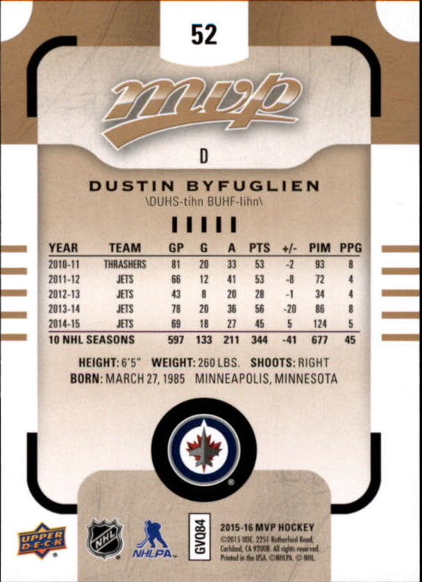 2015-16-Upper-Deck-MVP-Hockey-Card-Pick thumbnail 105