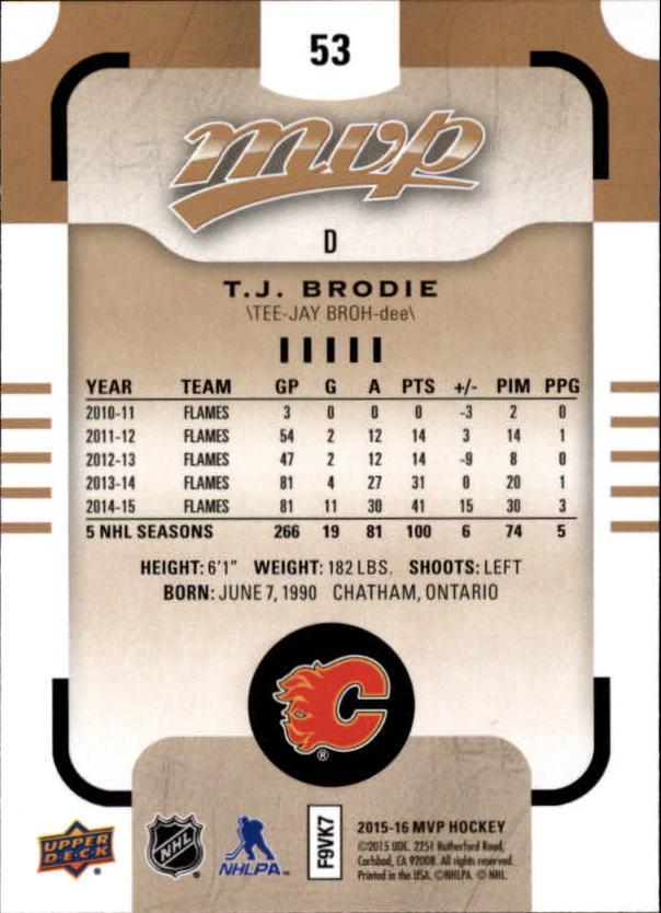 2015-16-Upper-Deck-MVP-Hockey-Card-Pick thumbnail 107