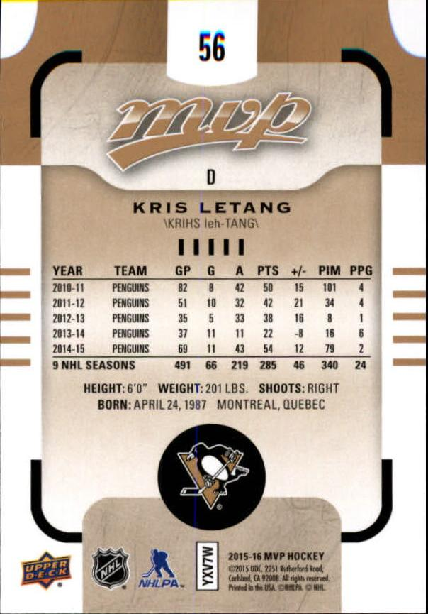 2015-16-Upper-Deck-MVP-Hockey-Card-Pick thumbnail 113