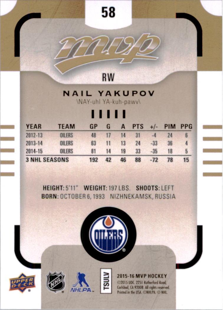2015-16-Upper-Deck-MVP-Hockey-Card-Pick thumbnail 117
