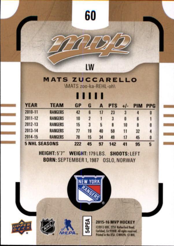 2015-16-Upper-Deck-MVP-Hockey-Card-Pick thumbnail 121