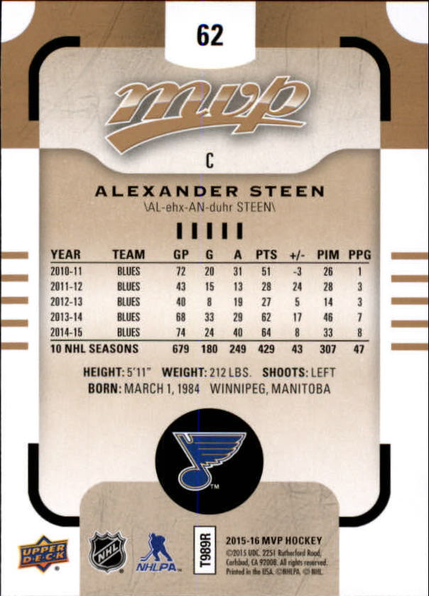 2015-16-Upper-Deck-MVP-Hockey-Card-Pick thumbnail 125