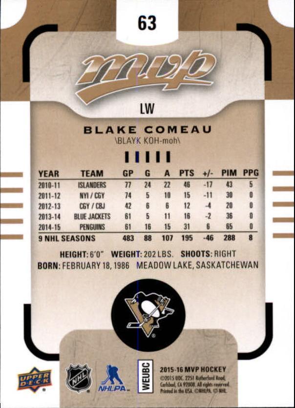 2015-16-Upper-Deck-MVP-Hockey-Card-Pick thumbnail 127