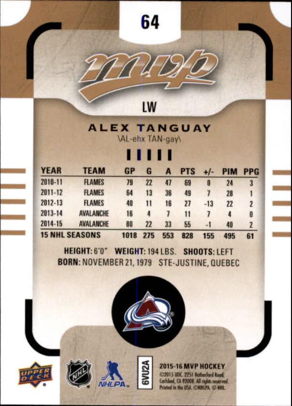 2015-16-Upper-Deck-MVP-Hockey-Card-Pick thumbnail 129