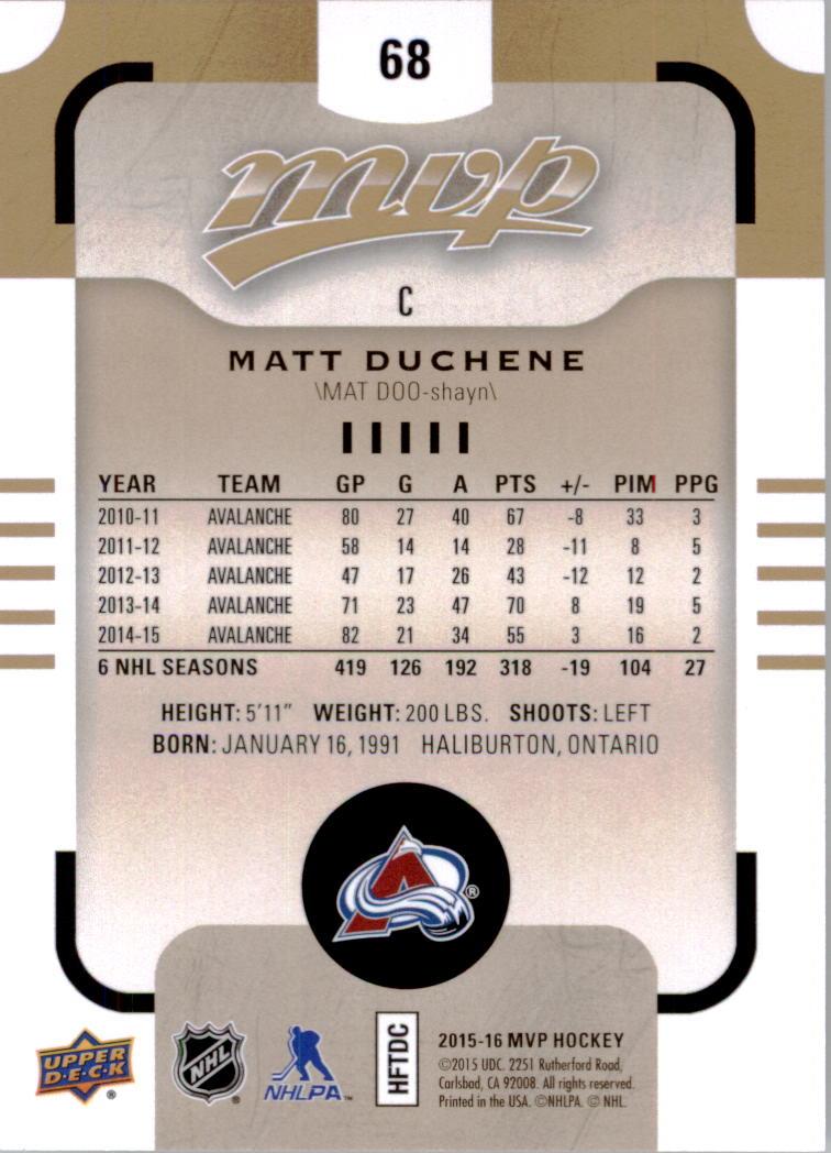 2015-16-Upper-Deck-MVP-Hockey-Card-Pick thumbnail 137