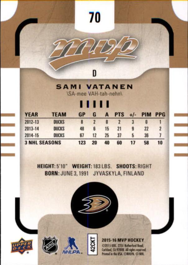 2015-16-Upper-Deck-MVP-Hockey-Card-Pick thumbnail 141