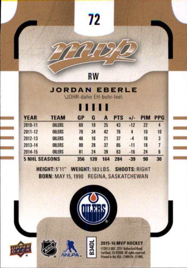 2015-16-Upper-Deck-MVP-Hockey-Card-Pick thumbnail 145