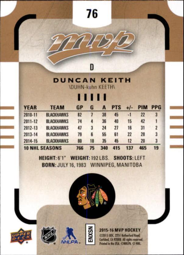 2015-16-Upper-Deck-MVP-Hockey-Card-Pick thumbnail 153