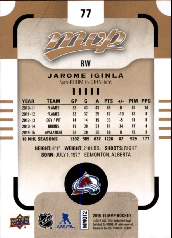2015-16-Upper-Deck-MVP-Hockey-Card-Pick thumbnail 155