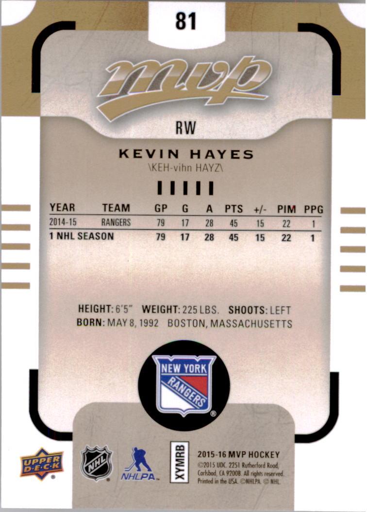2015-16-Upper-Deck-MVP-Hockey-Card-Pick thumbnail 163