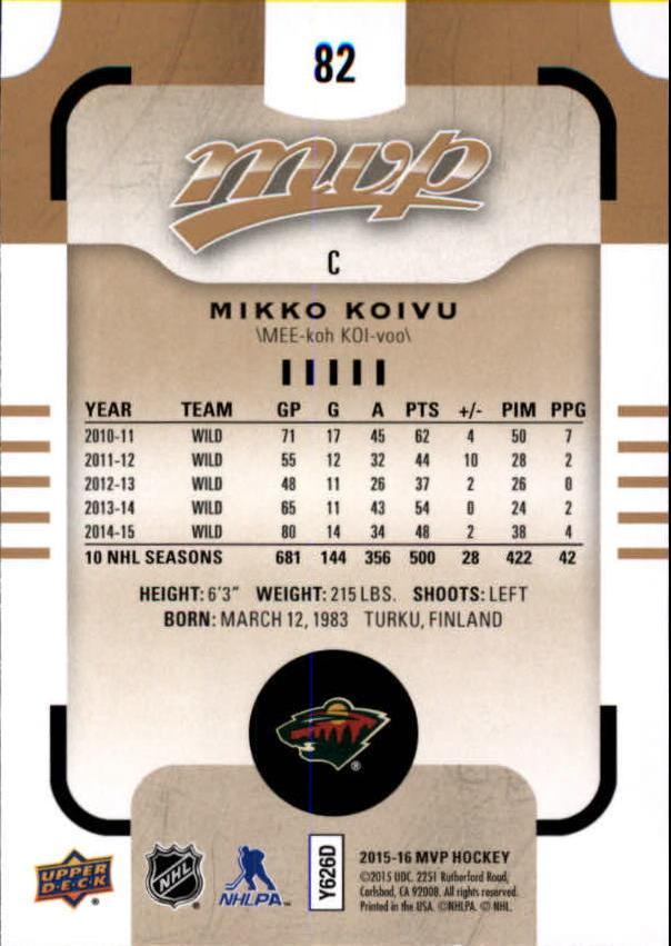 2015-16-Upper-Deck-MVP-Hockey-Card-Pick thumbnail 165