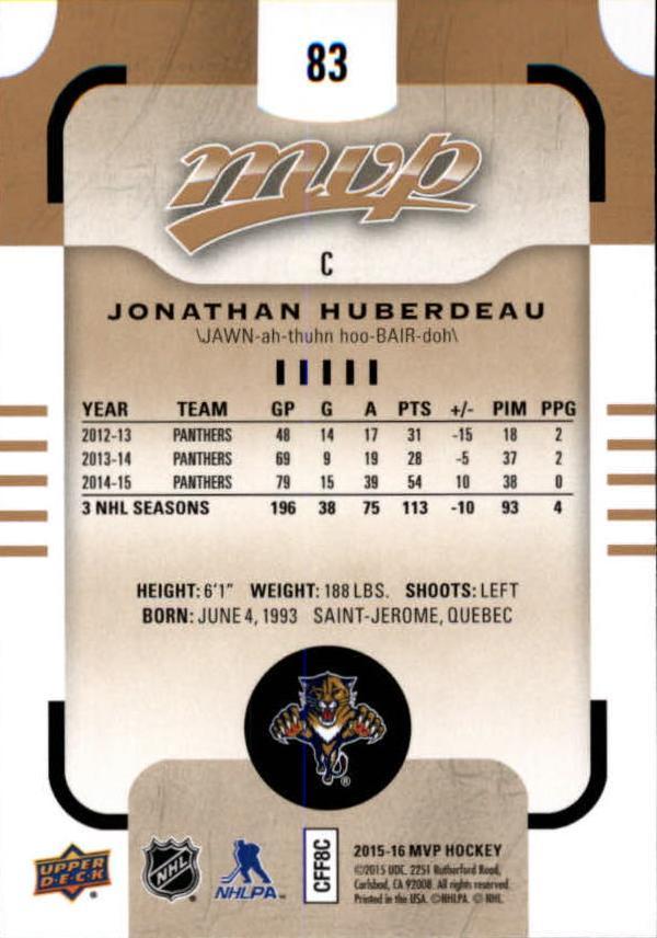 2015-16-Upper-Deck-MVP-Hockey-Card-Pick thumbnail 167