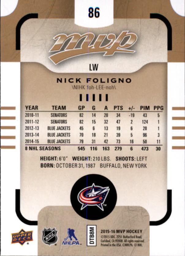 2015-16-Upper-Deck-MVP-Hockey-Card-Pick thumbnail 173