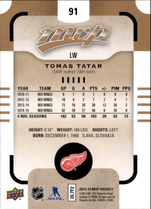 2015-16-Upper-Deck-MVP-Hockey-Card-Pick thumbnail 183