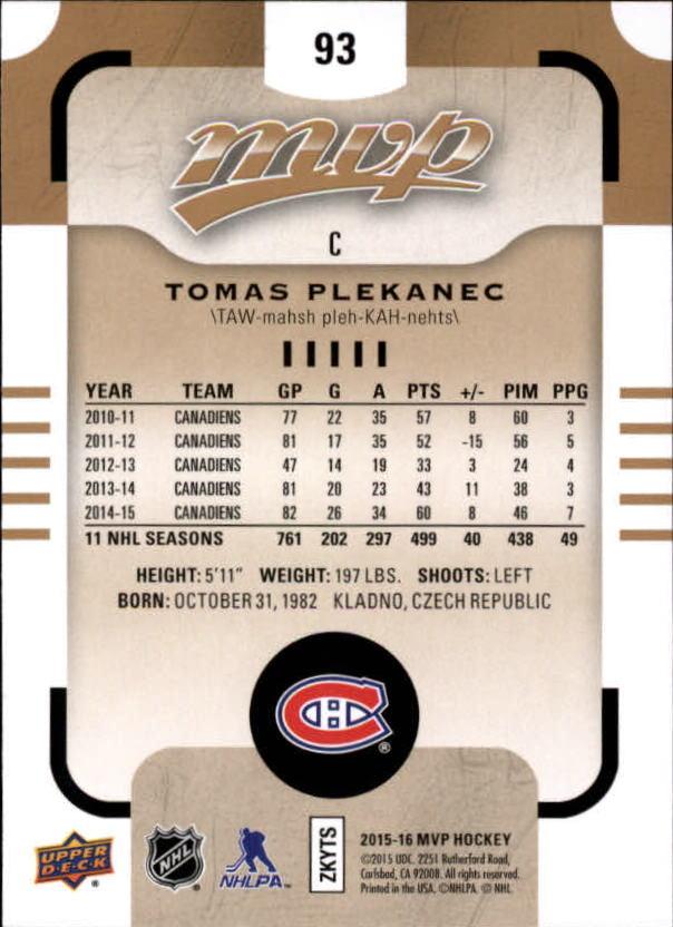 2015-16-Upper-Deck-MVP-Hockey-Card-Pick thumbnail 187