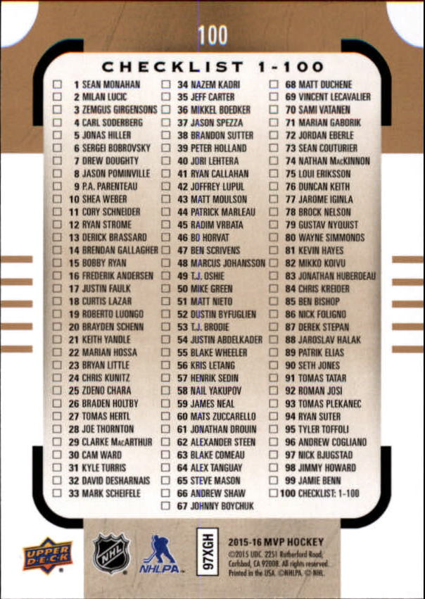 2015-16-Upper-Deck-MVP-Hockey-Card-Pick thumbnail 201