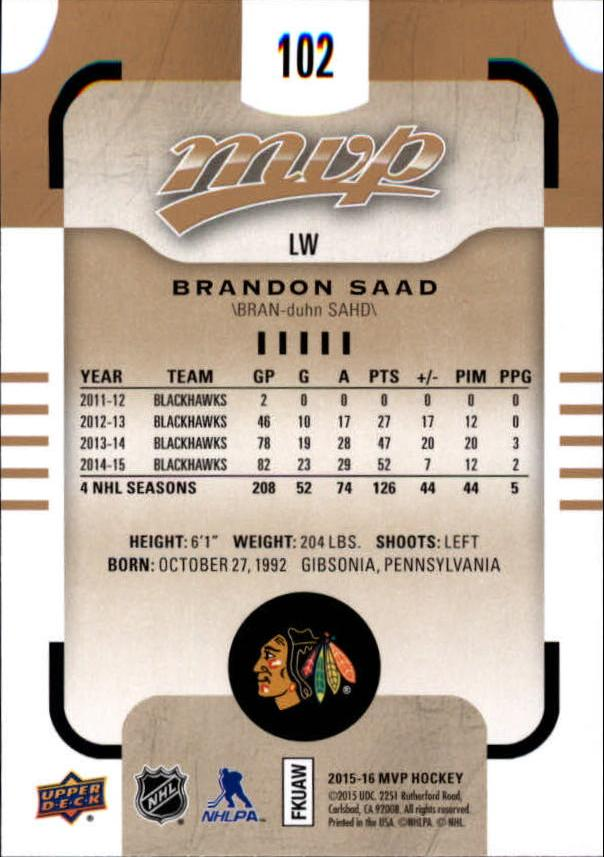 2015-16-Upper-Deck-MVP-Hockey-Card-Pick thumbnail 205