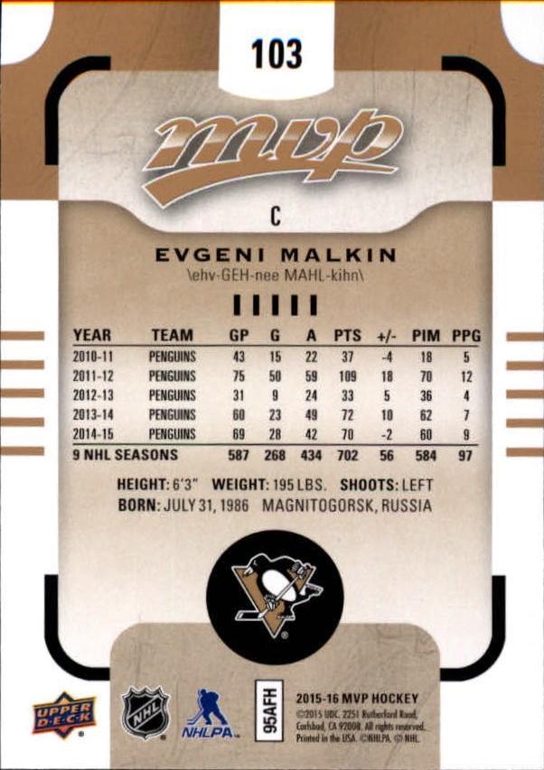 2015-16-Upper-Deck-MVP-Hockey-Card-Pick thumbnail 207